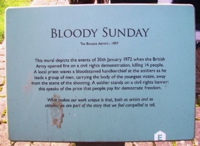 Bloody Sunday Marker image. Click for full size.