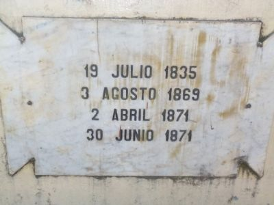 North side marker of Justo Rufino Barrios statue image. Click for full size.