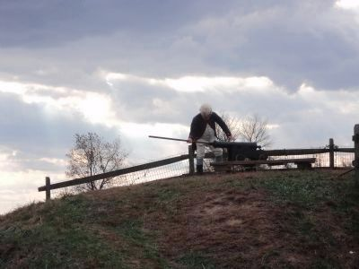 American Artilleryman Loads a Cannon in Fort Mifflin image. Click for full size.