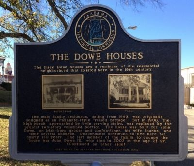 The Dowe Houses Marker image. Click for full size.