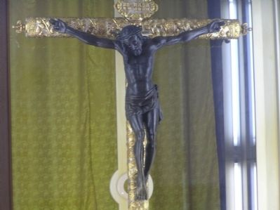 Replica of the Black Christ of Esquipulas image. Click for full size.