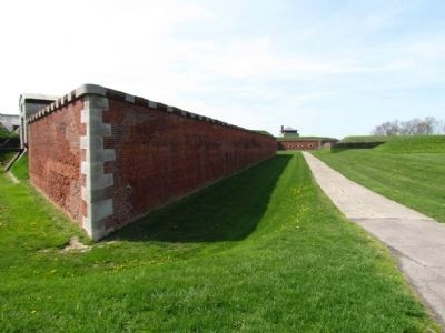 Outside Walls of Fort Niagara image. Click for full size.