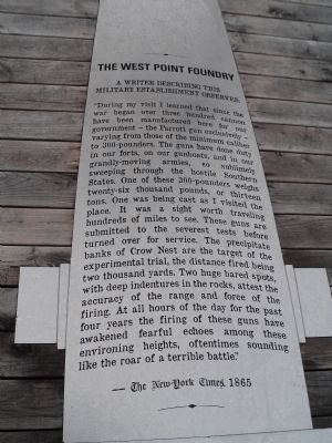 The West Point Foundry Marker image. Click for full size.