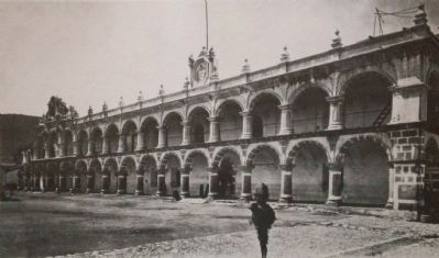Palace of the Captaincy General in 1875 image. Click for full size.