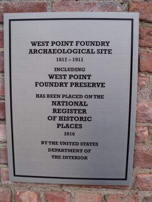 West Point Foundry Archaeological Site Marker image. Click for full size.