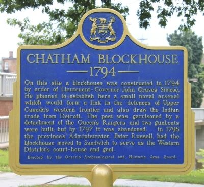 Chatham Blockhouse Marker image. Click for full size.