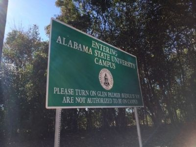 Alabama State University Entrance image. Click for full size.