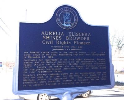 Aurelia Eliscera Shines Browder Marker (reverse) image. Click for full size.