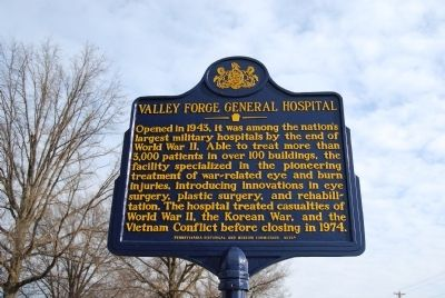 Valley Forge General Hospital Marker image. Click for full size.