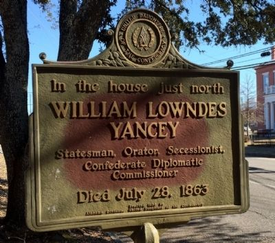 William Lowndes Yancey Marker image. Click for full size.