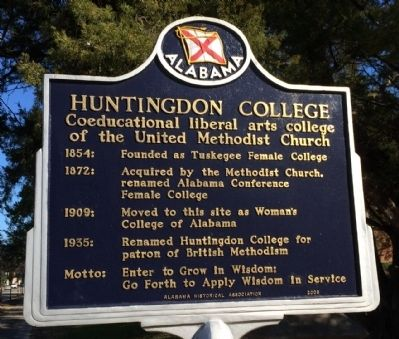 Huntingdon College Marker image. Click for full size.