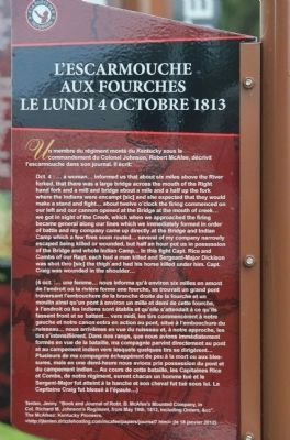 Skirmish at the Forks Marker image. Click for full size.