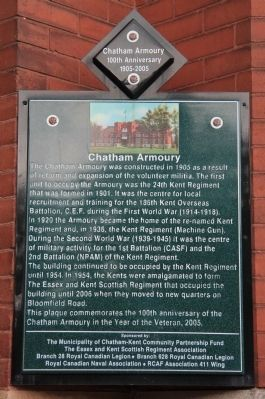 Chatham Armoury Marker image. Click for full size.