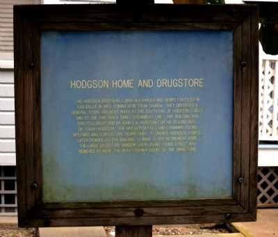 Hodgson Home and Drugstore Marker image. Click for full size.