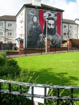 Hunger Strike Marker and Mural image. Click for full size.