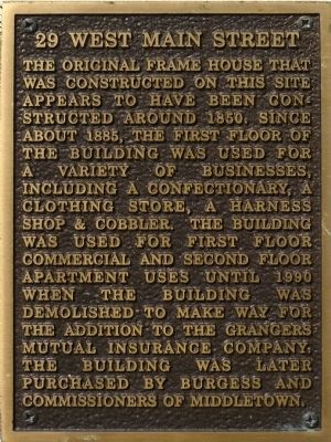 29 West Main Street Marker image. Click for full size.