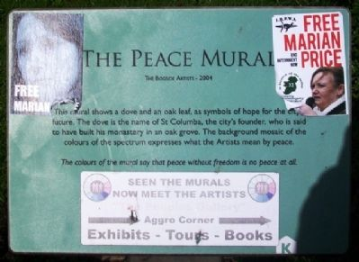 The Peace Mural Marker image. Click for full size.