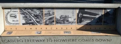 The Embarcadero Freeway Marker image. Click for full size.