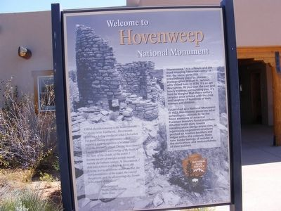 Hovenweep National Monument Marker image. Click for full size.