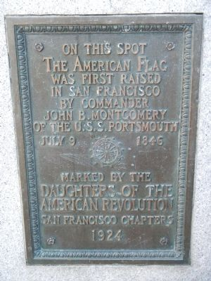 Raising of the American Flag Marker image. Click for full size.