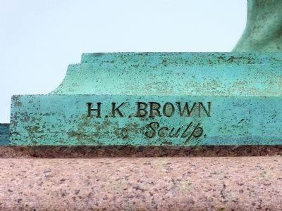 H. K. Brown, Sculptor Photo, Click for full size