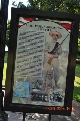 Philippine Insurrection 1899- 1913 Marker Photo, Click for full size