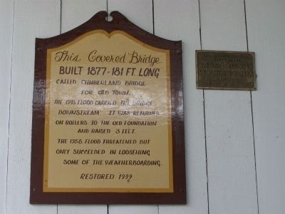 Historic Placard on Bridge image. Click for full size.