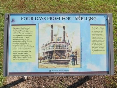 Four Days From Fort Snelling Marker image. Click for full size.