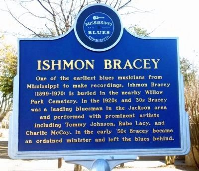 Ishmon Bracey Marker (Front) image. Click for full size.