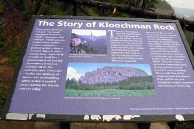The Story of Kloochman Rock Marker image. Click for full size.