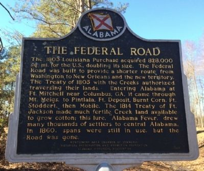 The Federal Road Marker image. Click for full size.