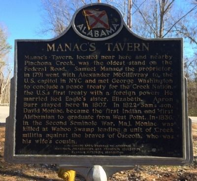 Manac's Tavern Marker image. Click for full size.