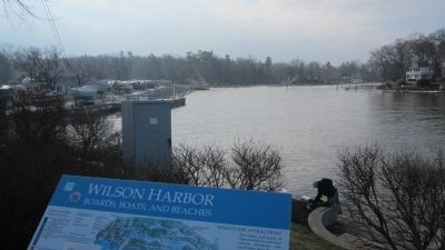 Wilson Harbor and Marker image. Click for full size.
