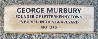 George Murbury Marker image. Click for full size.
