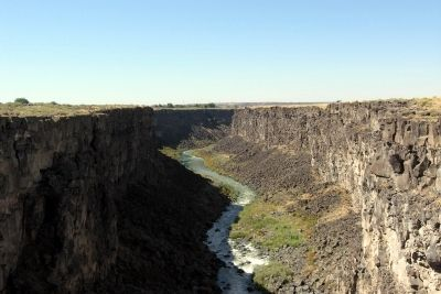 View to west from Gorge Overlook Trail bridge</center> image. Click for full size.