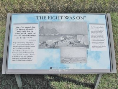The Fight Was On Marker image. Click for full size.