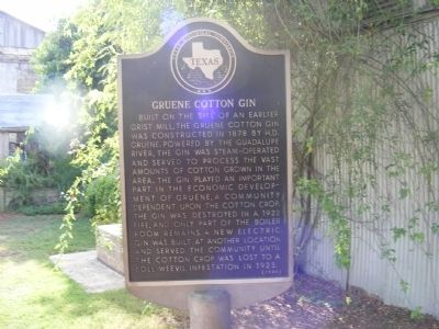 Gruene Cotton Gin Marker image. Click for full size.