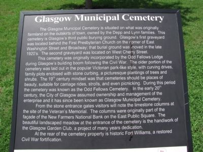 Glasgow Municipal Cemetery Marker image. Click for full size.