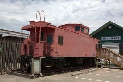 Norfolk and Western Caboose and Marker image. Click for full size.