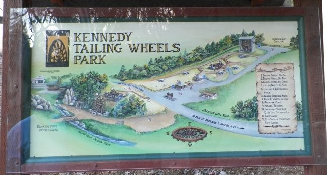 Kennedy Mine Tailing Wheels Park Map image. Click for full size.