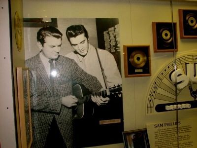 Elvis Aaron Presley with Sam Phillips of Sun Records image. Click for full size.