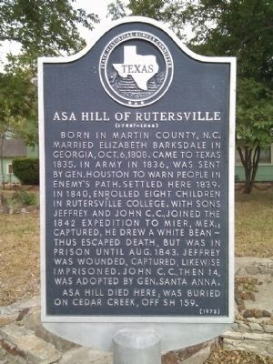 Asa Hill Marker image. Click for full size.