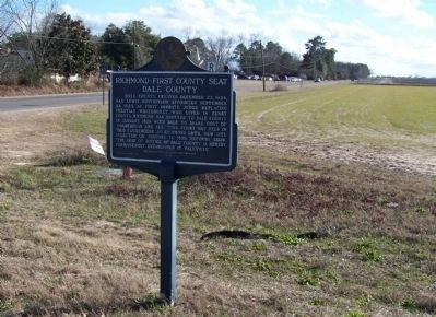 Richmond - First County Seat Marker image. Click for full size.