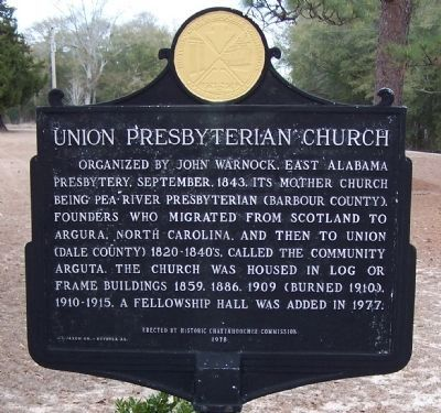 Union Presbyterian Church Marker image. Click for full size.