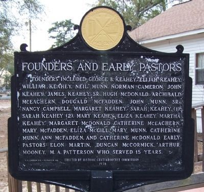 Founders and Early Pastors Marker image. Click for full size.