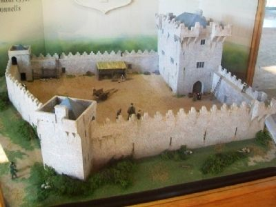 Donegal Castle Diorama - c.1590 image. Click for full size.