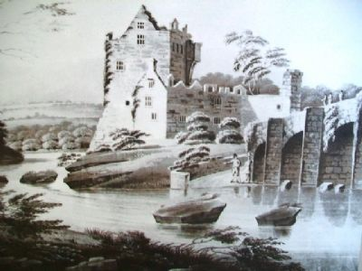 Donegal Castle Etching image. Click for full size.