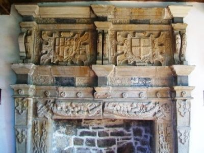 Donegal Castle Tower Living Quarters Fireplace image. Click for full size.
