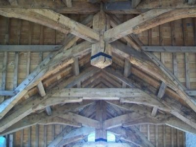 Donegal Castle Restored Tower Living Quarters Timbered Ceiling image. Click for full size.
