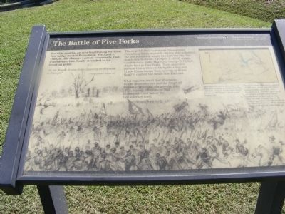 The Battle of Five Forks Marker image. Click for full size.